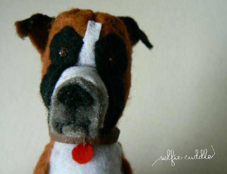 personalised handmade dolls, fabric dolls, animal doll, pet, head detail