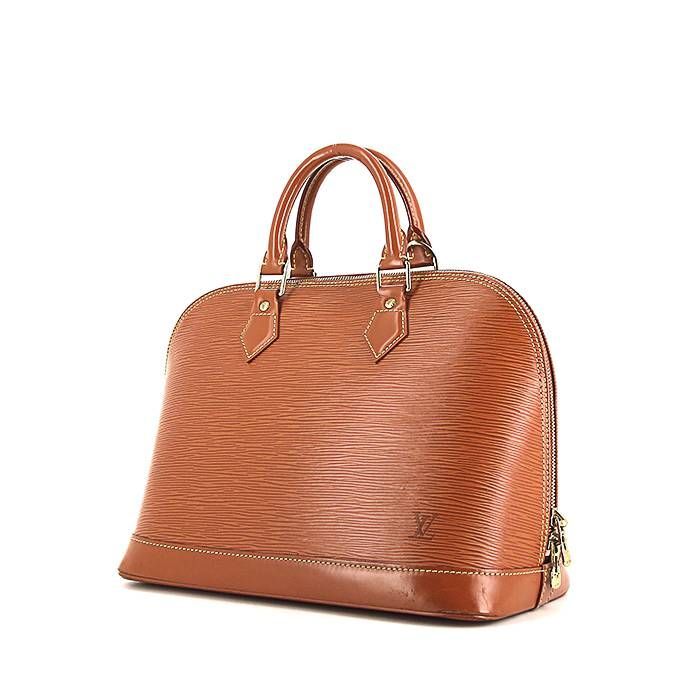 Sac à main Louis Vuitton Alma moyen modèle en cuir épi marron