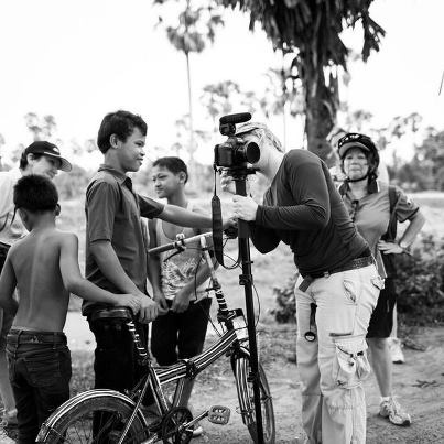 Lara Damiani from THINK FILMS showing the locals some footage from her documentary in Cambodia - shooting on 5DMkII with RØDE VideoMic Pro!    Photo by @LaraDamiani1 via Twitter.  https://twitter.com/LaraDamiani1/status/310866994213838852