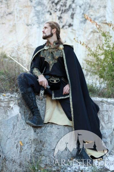 """Medieval Fantasy Exclusive Wool and Trimming Prince Cloak with lining """"Knight of the West"""" for sale"""