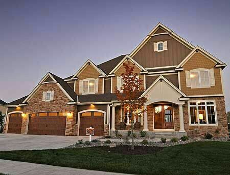 Fabulous A option of a craftsman style home with an indoor sports court and a hobby room