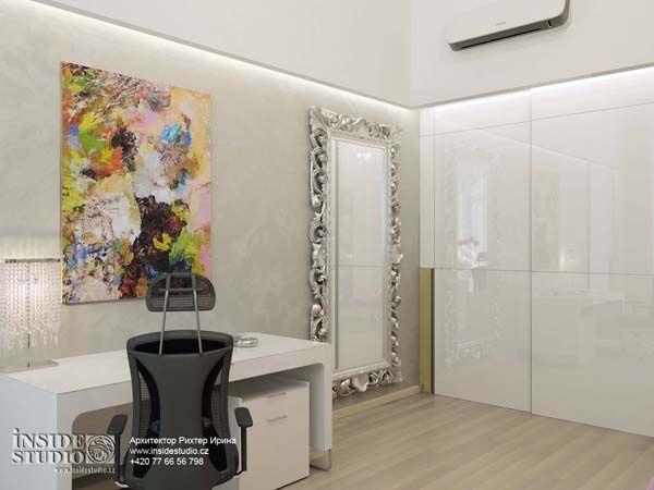 Интерьер гостиной-студии  в загородном доме. Архитектор Рихтер Ирина. INSIDE-STUDIO Prague
