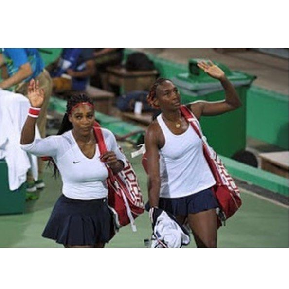 #Venus and #Serena Williams lose Olympic doubles match for the 1st time.  Three-time doubles champions and gold medalists sisters #Serena and #Venus Williams lost an Olympic match as partners for the first time by losing in the opening round of the Rio de Janeiro Games to Czech Republic's Lucie Safarova and Barbora Strycova by 6-3 6-4. well there's a first time for everything #instasports #rioolympics2016 #steevane #sv