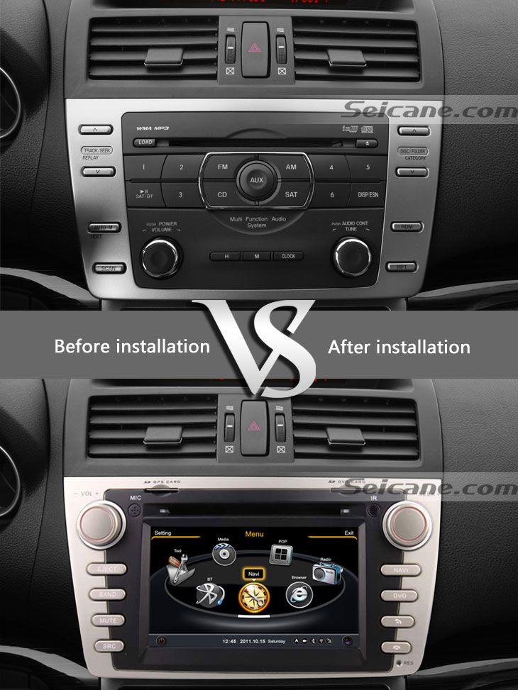 2009 2010 2011 Mazda 6 car dvd player after installation