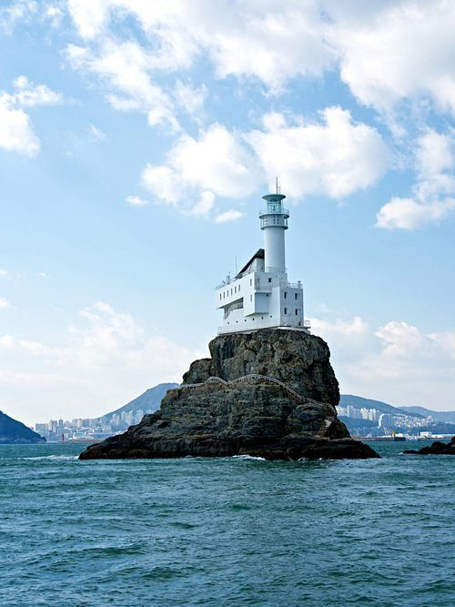 Oryukdo Lighthouse | South Korea--i'd like to blow this picture up and frame it