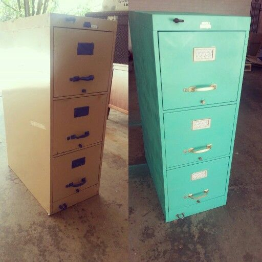 Filing cabinet makeover spray paint scrapbook paper for Spray paint makeovers