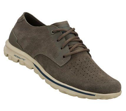 Skechers Mens Skechers On The Go Lux Comfort Shoes Grey