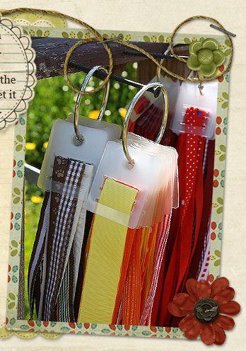 Great idea - ribbon ring  #scrapbooking, #ribbon, #organization