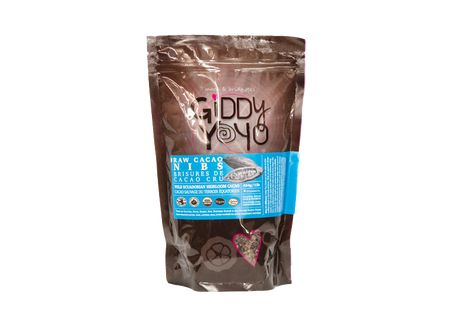 Giddy Yoyo CACAO NIBS are fermented & sun dried skinless crushed non-roasted dry beans. Giddy Yoyo CACAO is the world's most selectively sourced, most pure and powerful CACAO available! #cacao #chocolate #superfoods