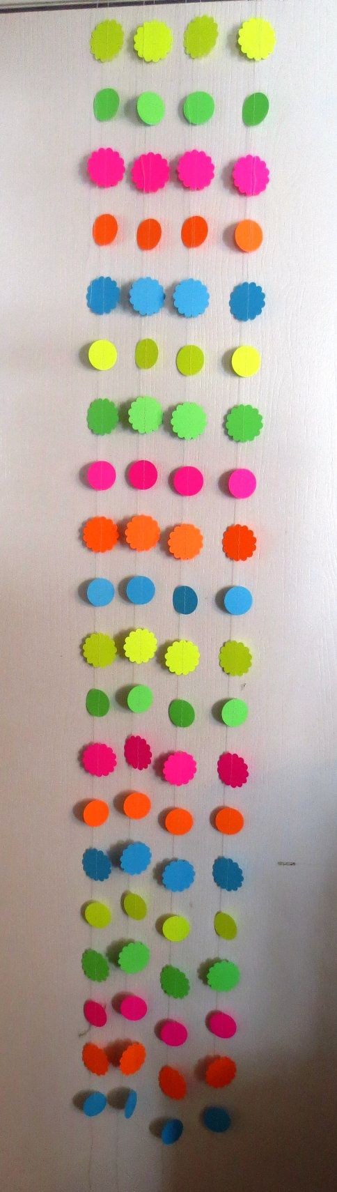 Neon Circle Paper Backdrop by coolcraftsandmore on Etsy, $20.00