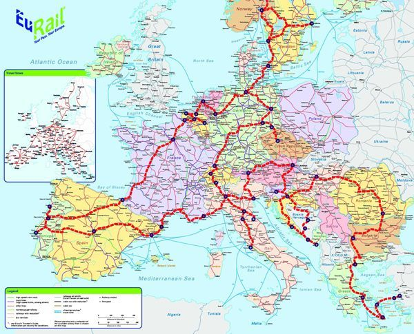 eurail map of europe What Would Be The Perfect European Train? How far would you go if
