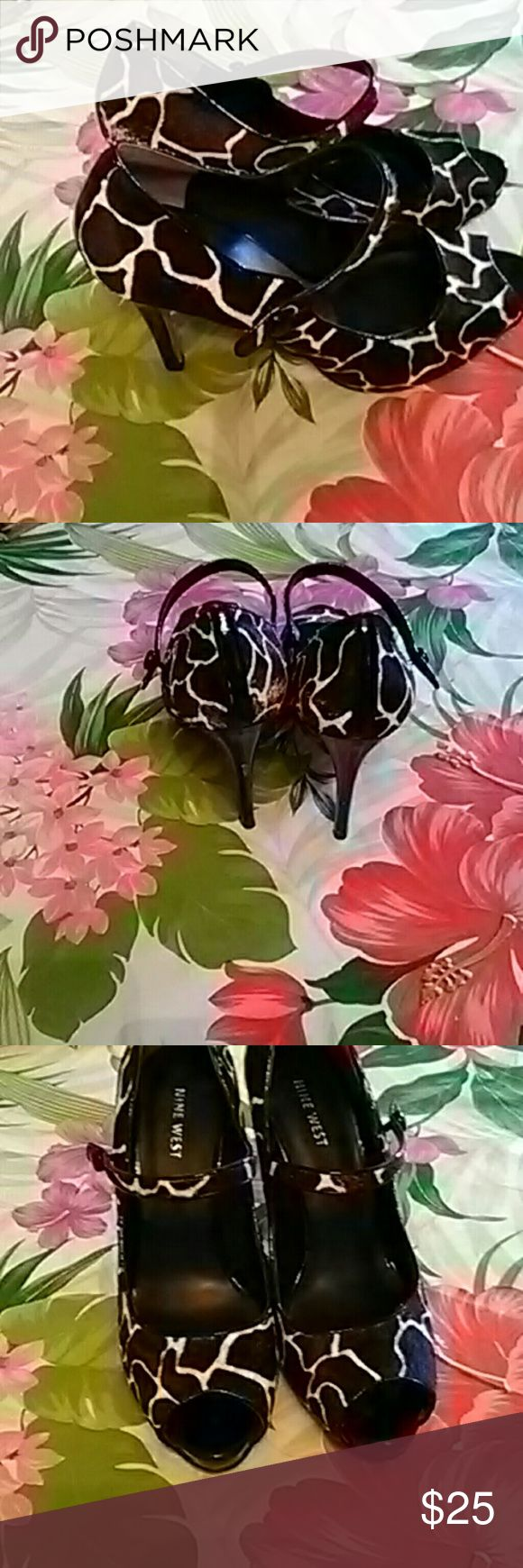 Shoe This is a high heel shoe for dress to anywhere office work party. Very  beautiful. Is used but it still bear it name Nine West Nine West Shoes Heels