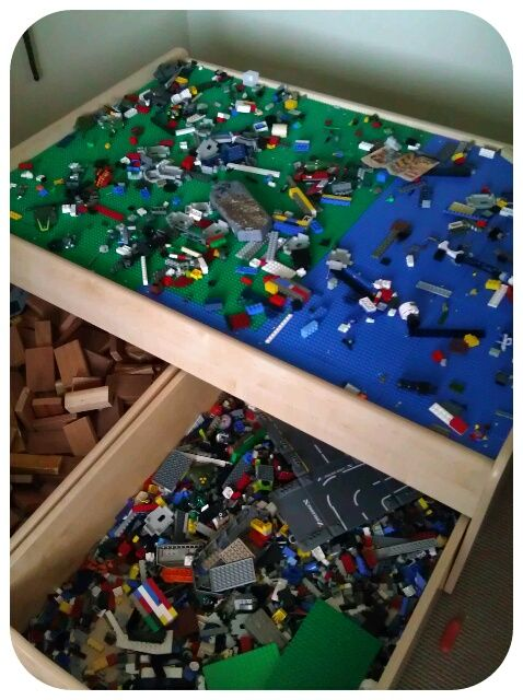 junk in their trunk lego table from old train table hmmm