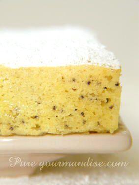 gateau moelleux aérien citron et pavot bleu ( pas de beurre, maïzena, crème…