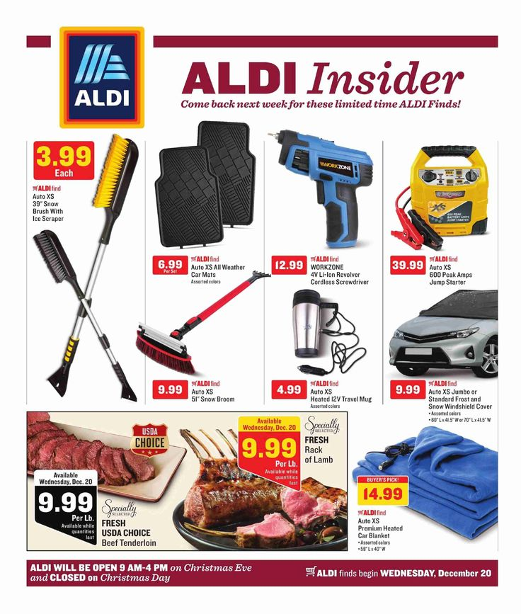 Aldi In Store Ad December 20 – 26, 2017 – Aldi, Grocery weekly circular arrives almost per week but quite often people see the Aldi, Grocery ad and they're quick to throw it out. Checking the ads almost every week and clipping out of the coupons that can in the weekly ads circular can really be an extremely rewarding experience. Aldi, Grocery regularly includes coupons that may equate his almost as much ast 50% off your purchase. Which means you could attemp