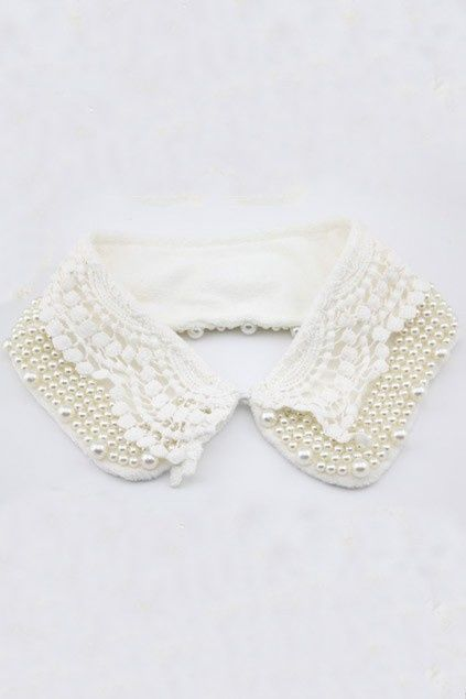 lace and pearls collar