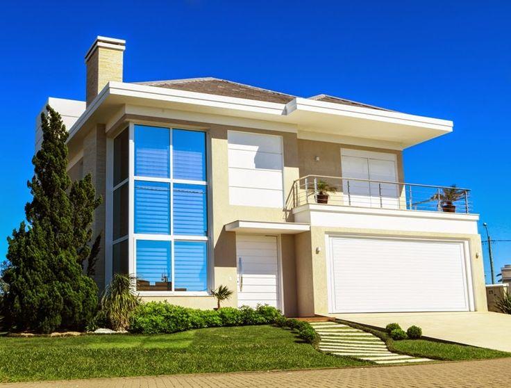 Fachadas de casas com vidro:transparente, verde, azul, fumê, espelhado!