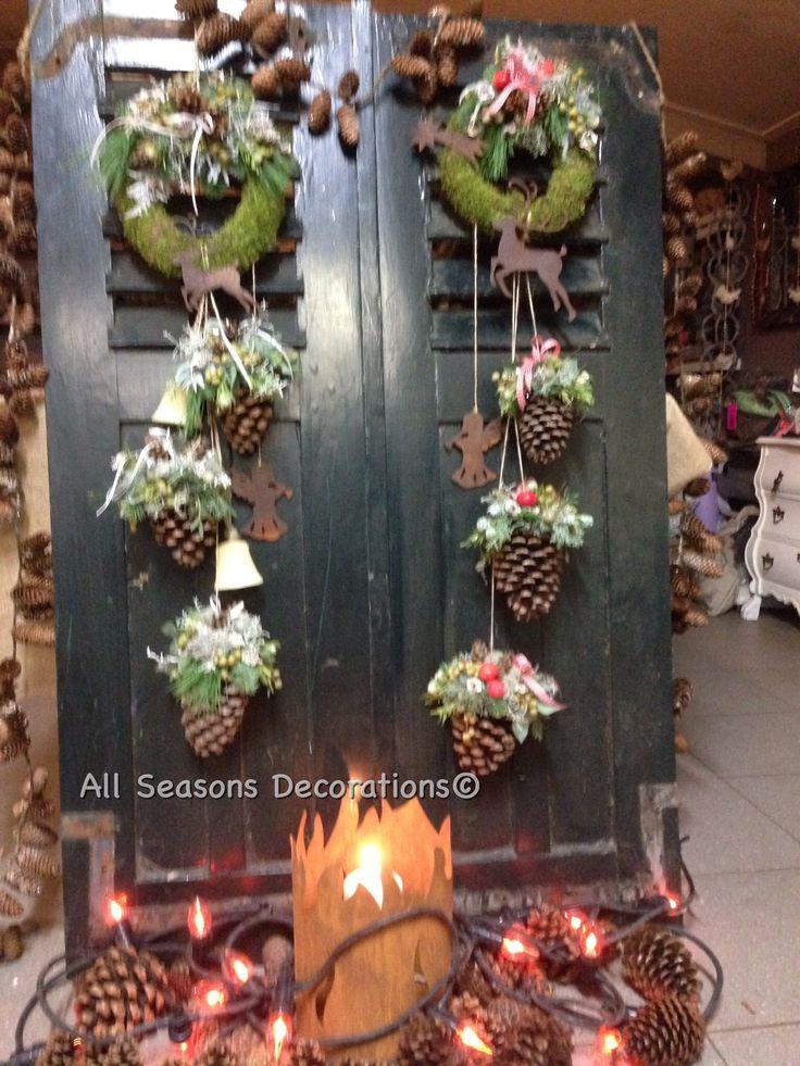 """Mooie deco in """"nordic - style"""" voor aan mijn voordeur @ All Seasons Decorations Klaar voor de kerstdagen.."""