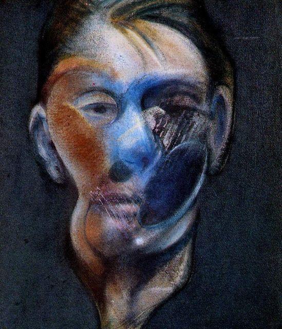 """Francis BACON, """"Autoportrait"""", 1976 - Huile et pastel sur toile, 34 x 29,5 cm, Marseille, musée Cantini"""