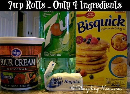 7up Rolls recipe has only 4 ingredients! So easy to make and they taste delicious.