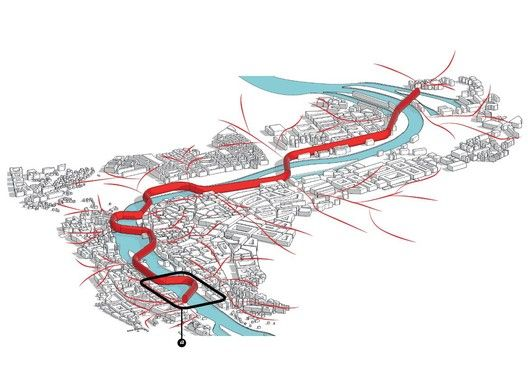 'Urban Sponge' Competition Entry / Gemawang Swaribathoro + Indra Nugraha + Morian Saspriatnadi,vision plan diagram