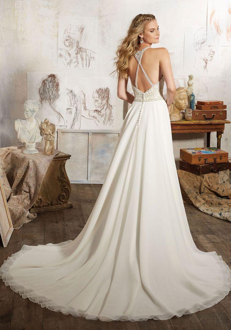 Simple MORI LEE Maelani Wedding Dress Style
