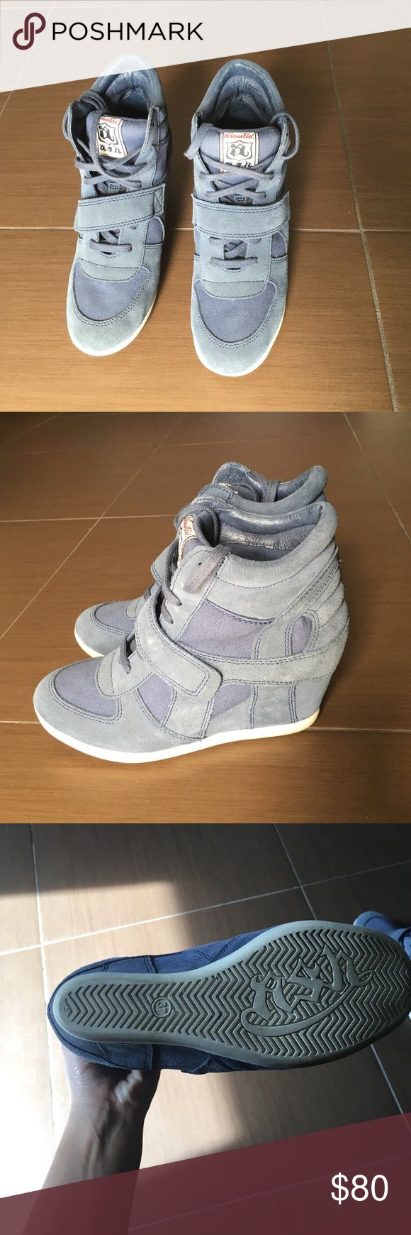 Blue ash sneaker wedges Excellent condition. Only worn once Ash Shoes Sneakers