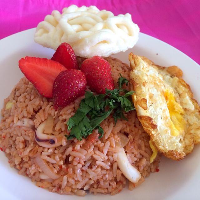 レシピとお料理がひらめくSnapDish - 7件のもぐもぐ - Strawberry Fried Rice by Novi Januarsi