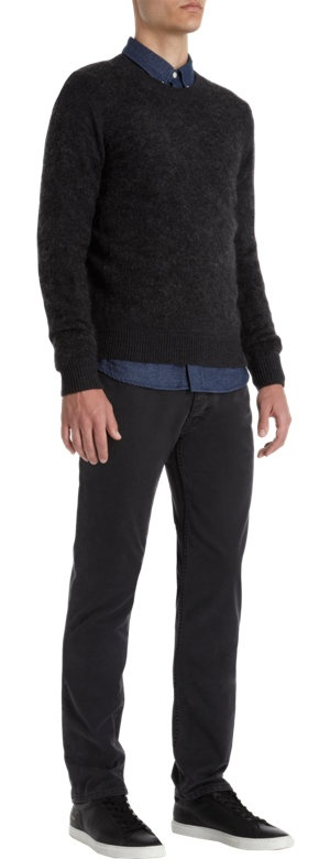 acne studios trick combo sweater at barneys com sweaters