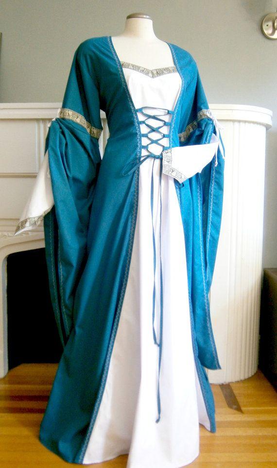 Middeleeuwse kleding gewaad van de Renaissance jurk LARP