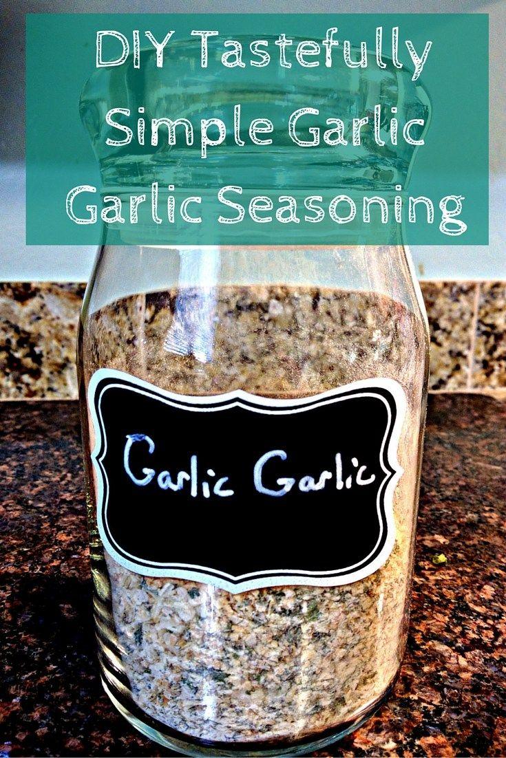 DIY Tastefully Simple Garlic Garlic Seasoning Mix