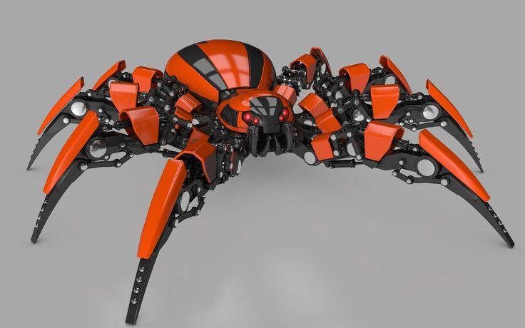Searched 3d models for Spider Robot Model