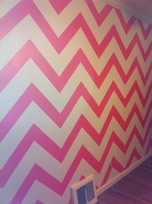 Not usually a fan of chevron. But this is cute for a little girl's room. :)