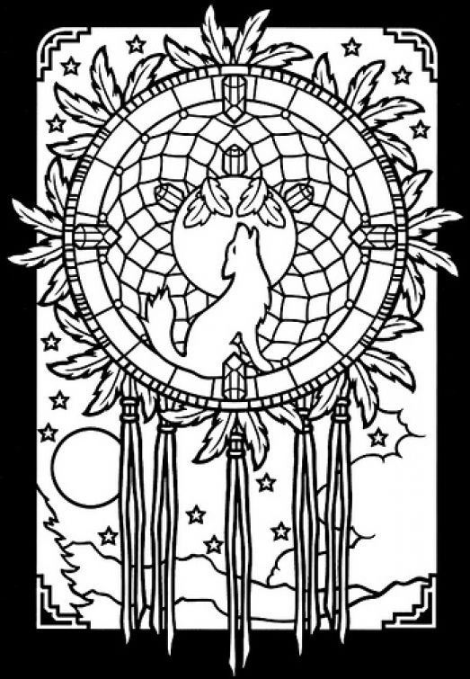 Free Stained Glass Printble Coloring Sheet Tattoo Ideas