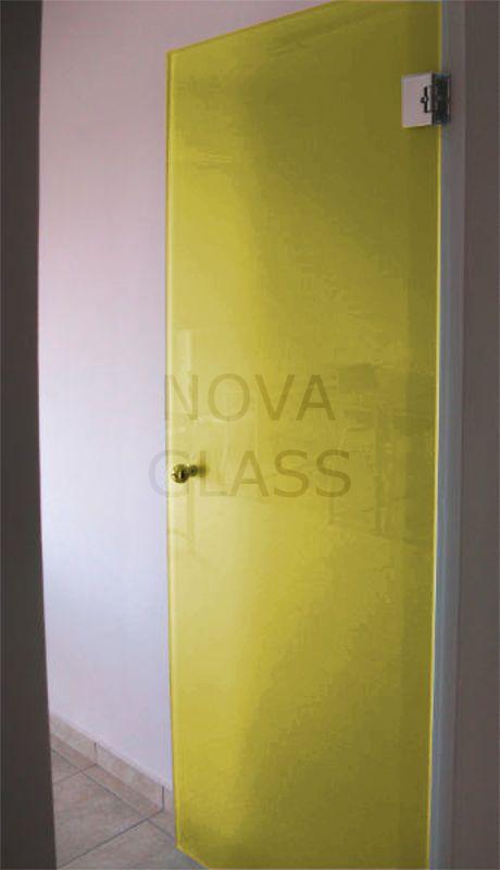 Γυάλινη πόρτα 10mm 80Χ200 κίτρινη