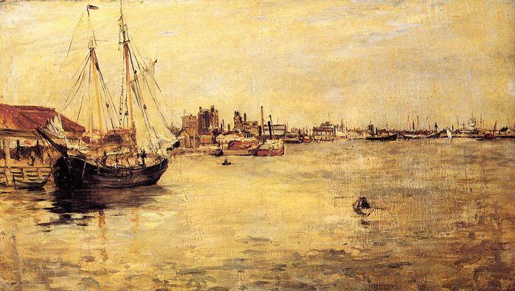 new york harbor - John Henry Twachtman - WikiPaintings.org
