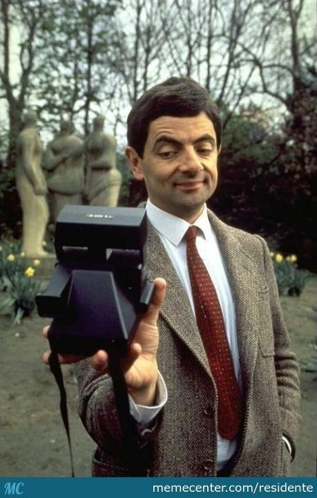 Mr. Bean did selfies...old-school camera | Portraits ...