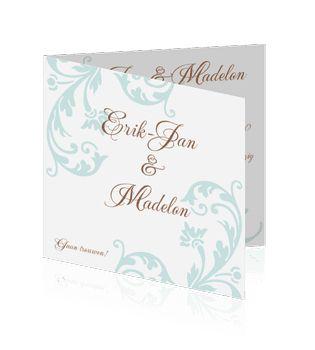 Unieke huwelijkskaarten zelf maken. Een prachtige kaart voor de aankondiging voor uw huwelijk.