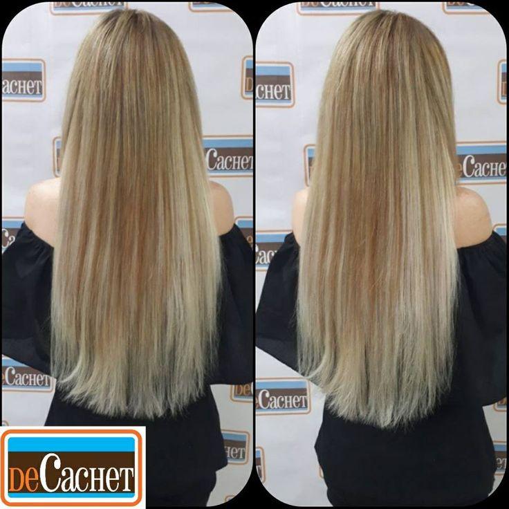 Extensiones de cabello rubio