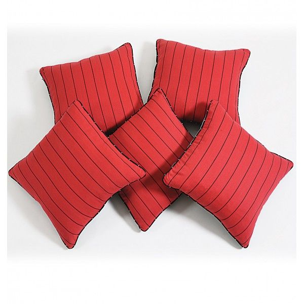 Red Striped Cushion Cover- Give a bold and magnificent look.