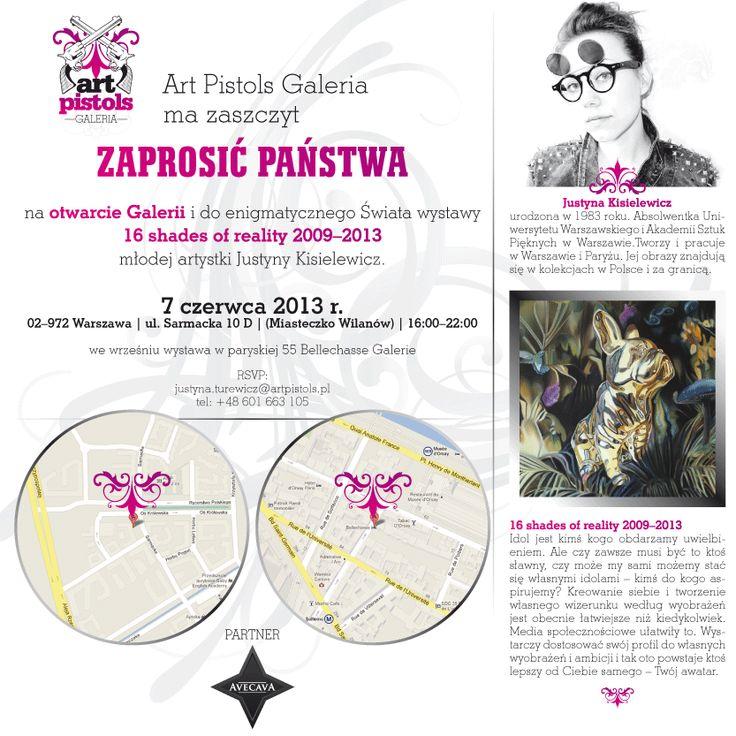 Grafika dla Art Pistols Galeria/ zaproszenie mailowe