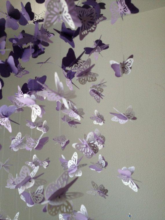 Carta pizzo Lampadario farfalla monarca Mobile  di DragonOnTheFly