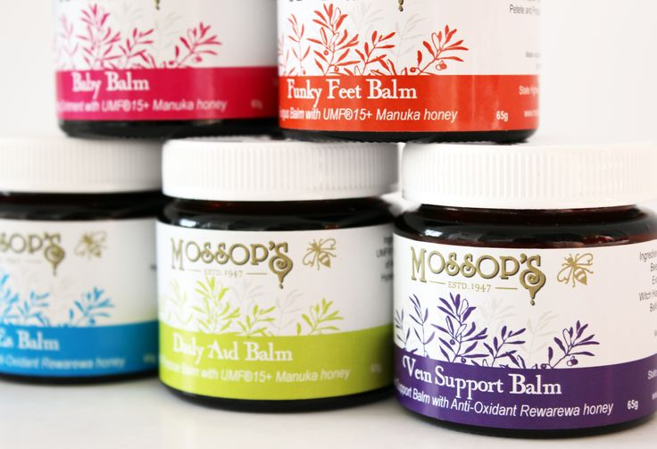 Using a unique combination of freshly picked, regenerating native plants and flowers, Mossop's balms capture the natural healing properties and mix them in a natural beeswax base enriched with oils,  the healing and moisturising properties of UMF® 15+ Manuka honey and antioxidant Rewarewa honey.