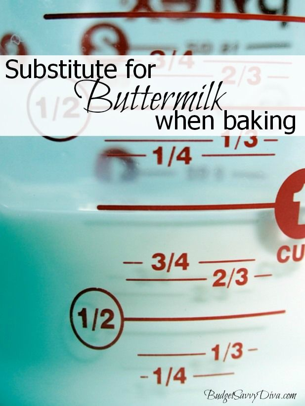 Substitution for Buttermilk