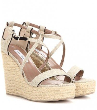 Keilabsatz-sandalen Jenny 110 Aus Canvas