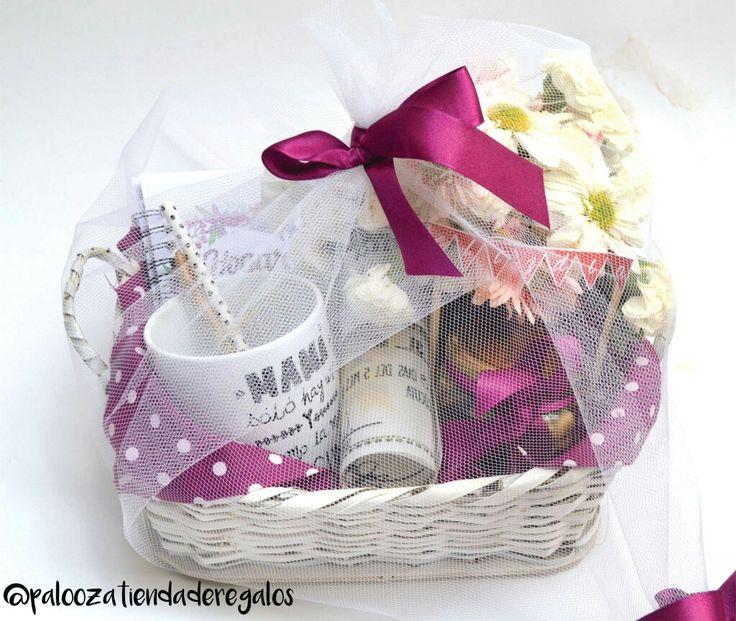 Dia de la madre / mothers day idea / canasta violeta / gift kit / gift idea woman