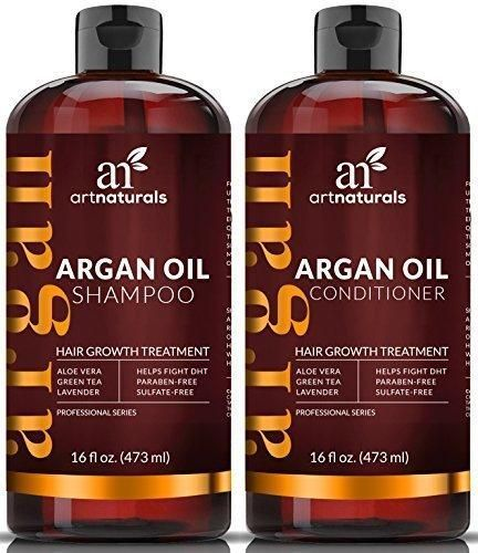 ArtNaturals Moroccan Argan Oil Hair Loss Shampoo & Conditioner Set - Hair Regrowth (2x16Oz) Sulfate Free- Treatment for Hair Loss Thinning Hair & Hair Growth Men & Women- Made W/ Organic Ingredients http://ultrahairssolution.com/how-to-grow-natural-hair-f