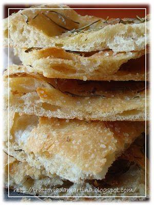 La pizza bianca tipo romana - Trattoria da Martina - cucina tradizionale, regionale ed etnica