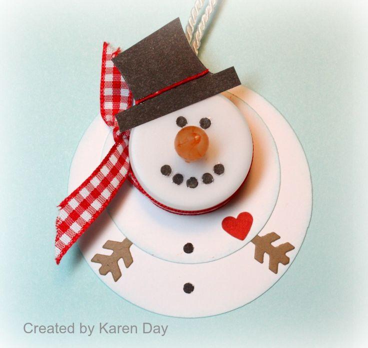 Snowman tea light ornaments. Use foam sheets. Melted snowman