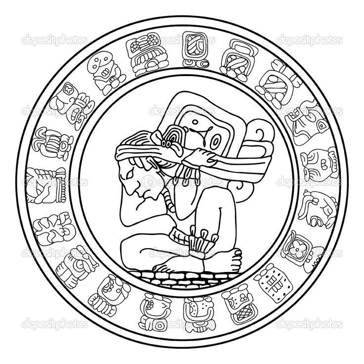 mayan animal symbol symbol rainbow wall mayan
